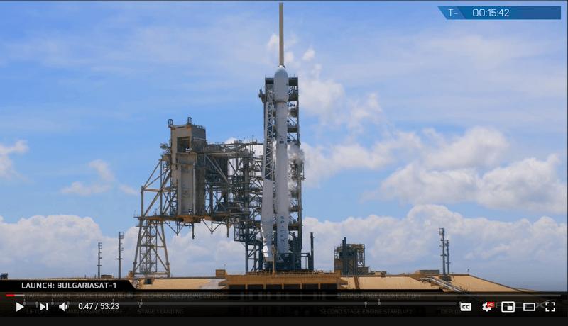 capture of a rocket launch video