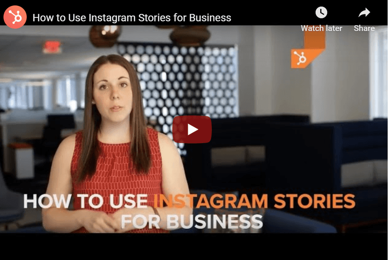 capture of a video explaining how to use instagram stories