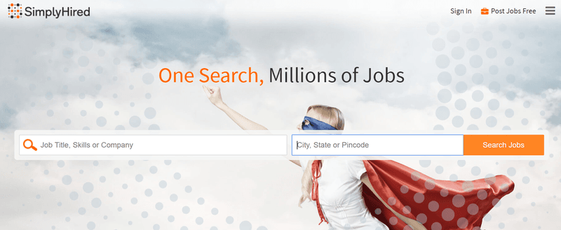 Job hunting after 50 website SimplyHired