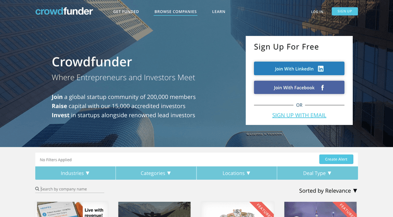 Types of Crowdfunding: The equity crowdfunding platform Crowdfunder