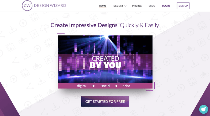Easily design your posts with apps such as Design Wizard