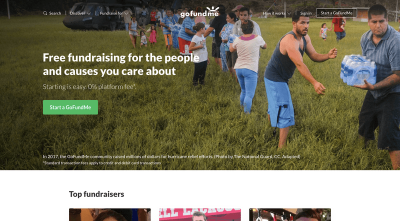 Types of Crowdfunding: The donation crowdfunding platform Gofundme