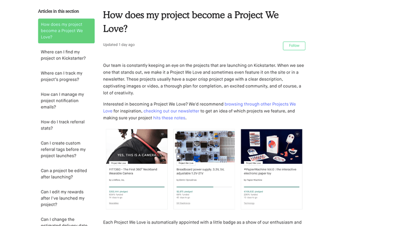 Kickstarter: Project we love