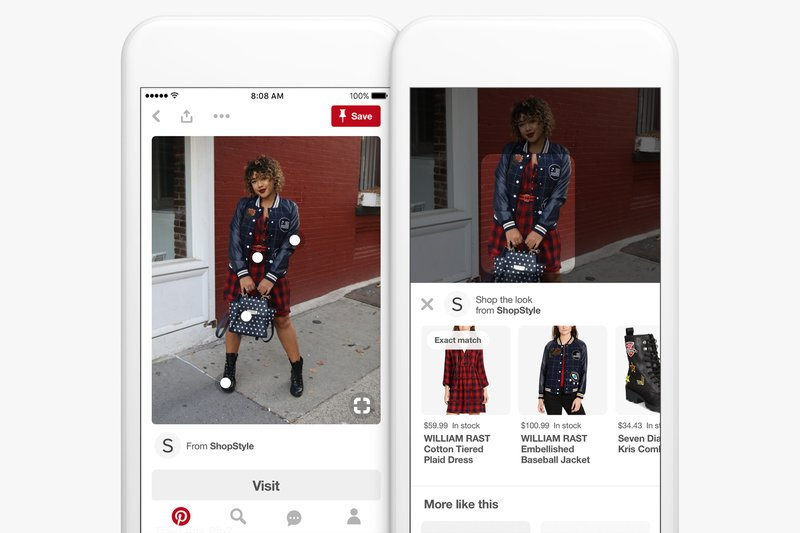 Pin function on Pinterest