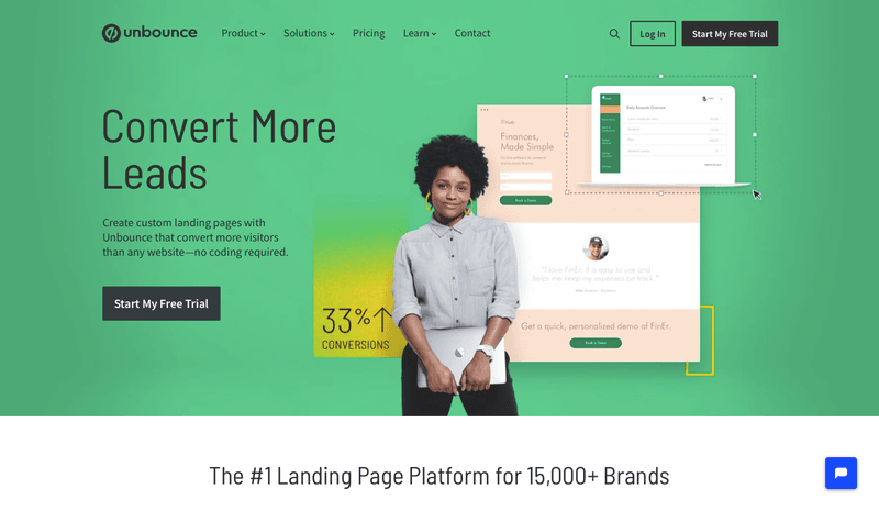 Unbounce is a great tool for A/b tests using different landing pages