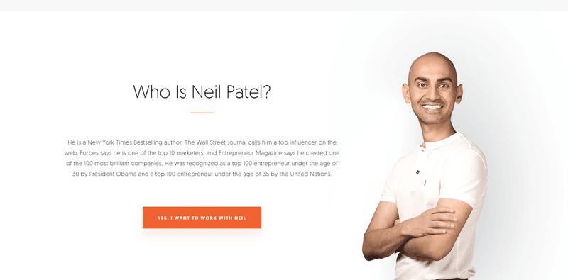 Neil Patel blog keeps his powerful personal marketing