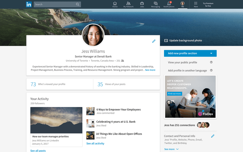 Build your personal marketing through LinkedIn