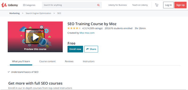 Udemy Website