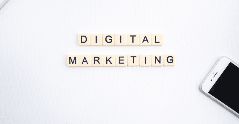Digital Marketing written on blocks