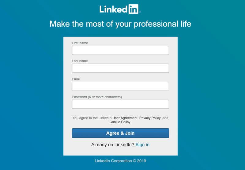 LinkedIn website