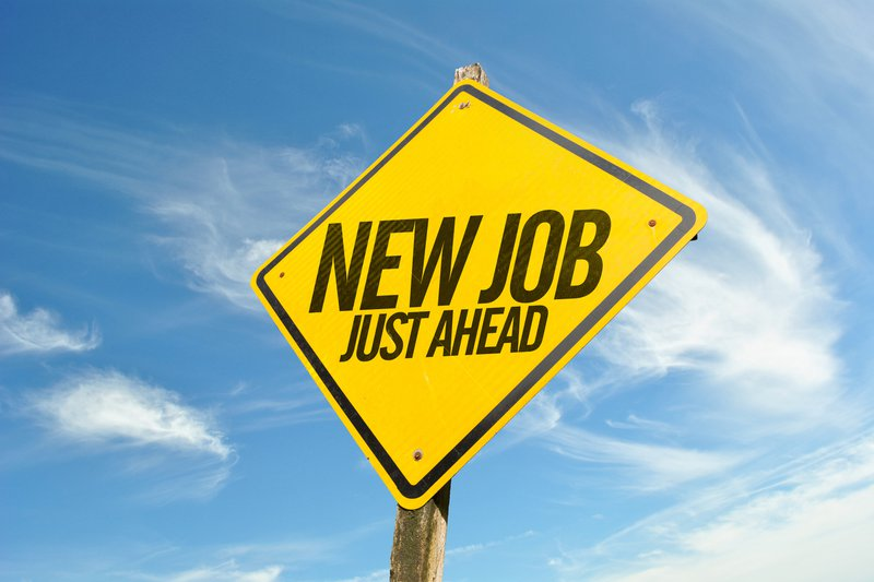 A sign board that says: New Job Ahead