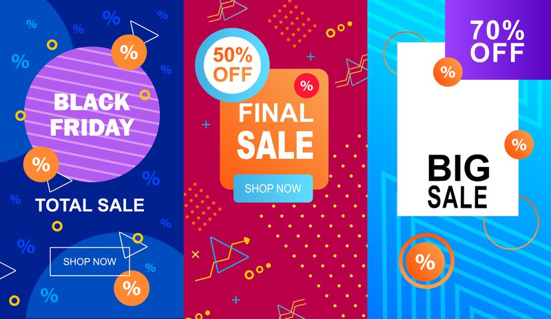 Sale banners on websites