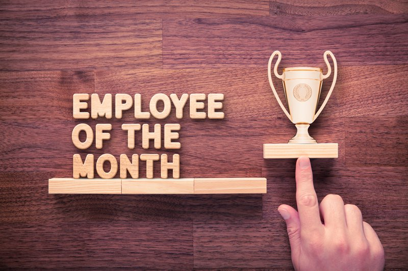 Employee of the month trophy (types of compensation)