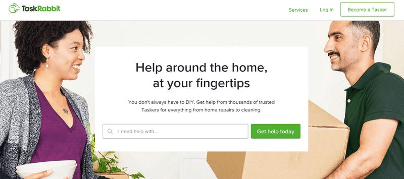 TaskRabbit website page