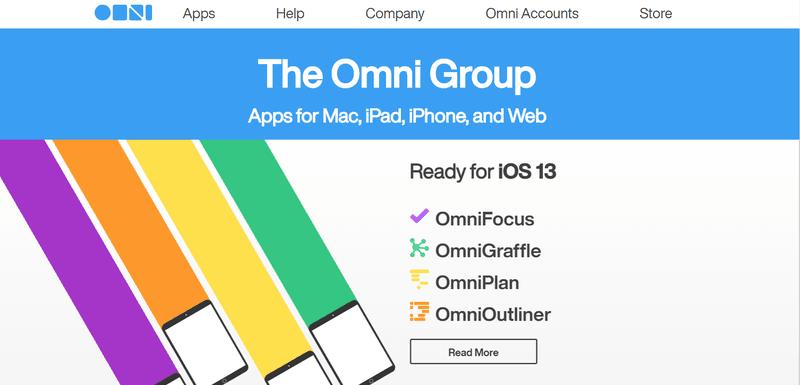 OmniFocus website page
