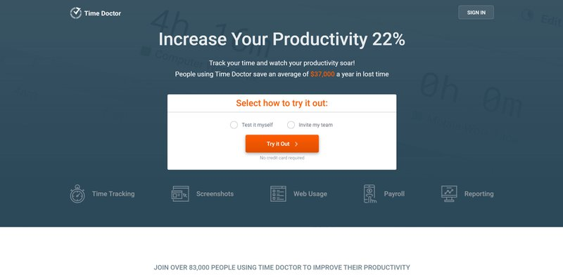 Time Doctor for productivity improvement