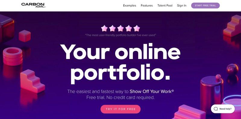 Carbonmade in best portfolio websites in 2021