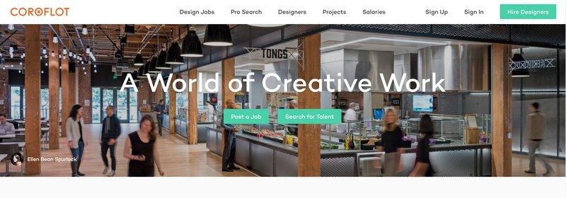 Coroflot in best portfolio websites in 2021