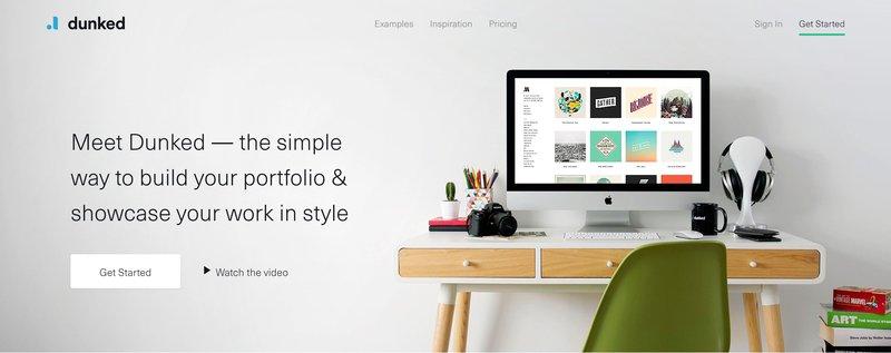 Dunked in best portfolio websites in 2021