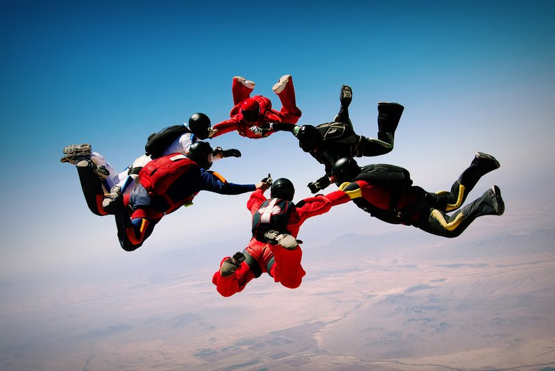 Skydiving teamwork cohesion formation