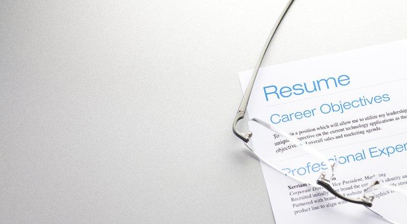 Resume close shot