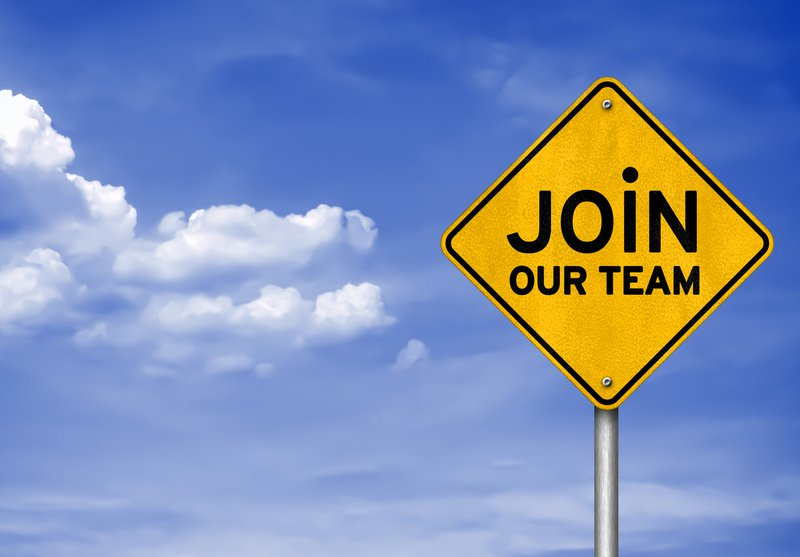 Join our team sign board