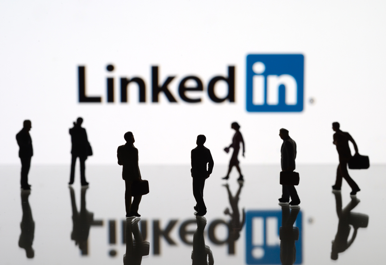 LinkedIn logo representing jobs