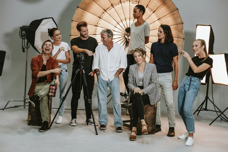 People in a photo shoot system in an advertising agency