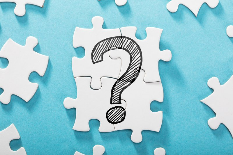 Question Mark Icon On White Puzzle
