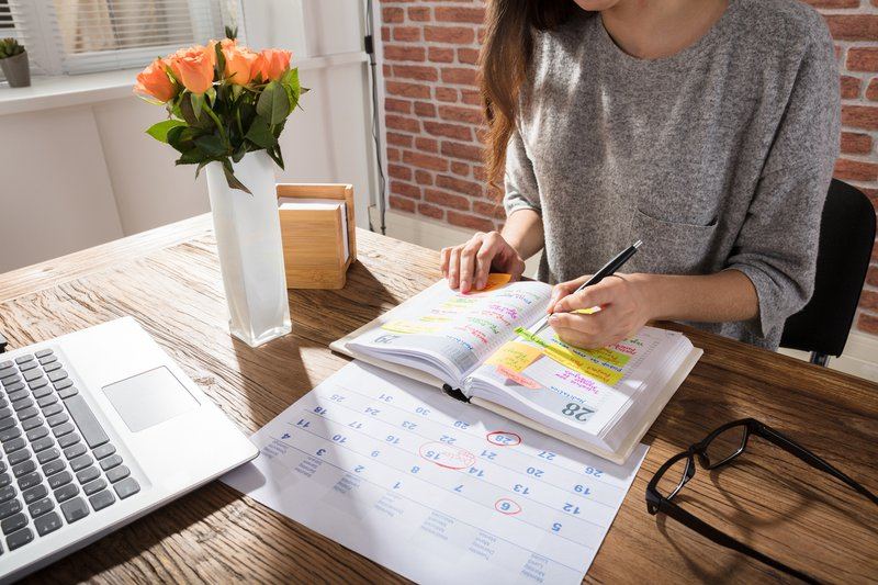 Woman making a plan for her career shift