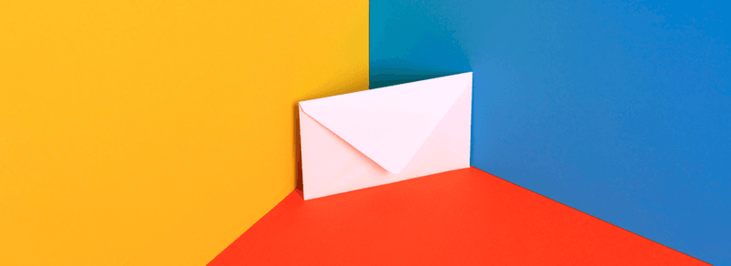 White envelope kept in the corner