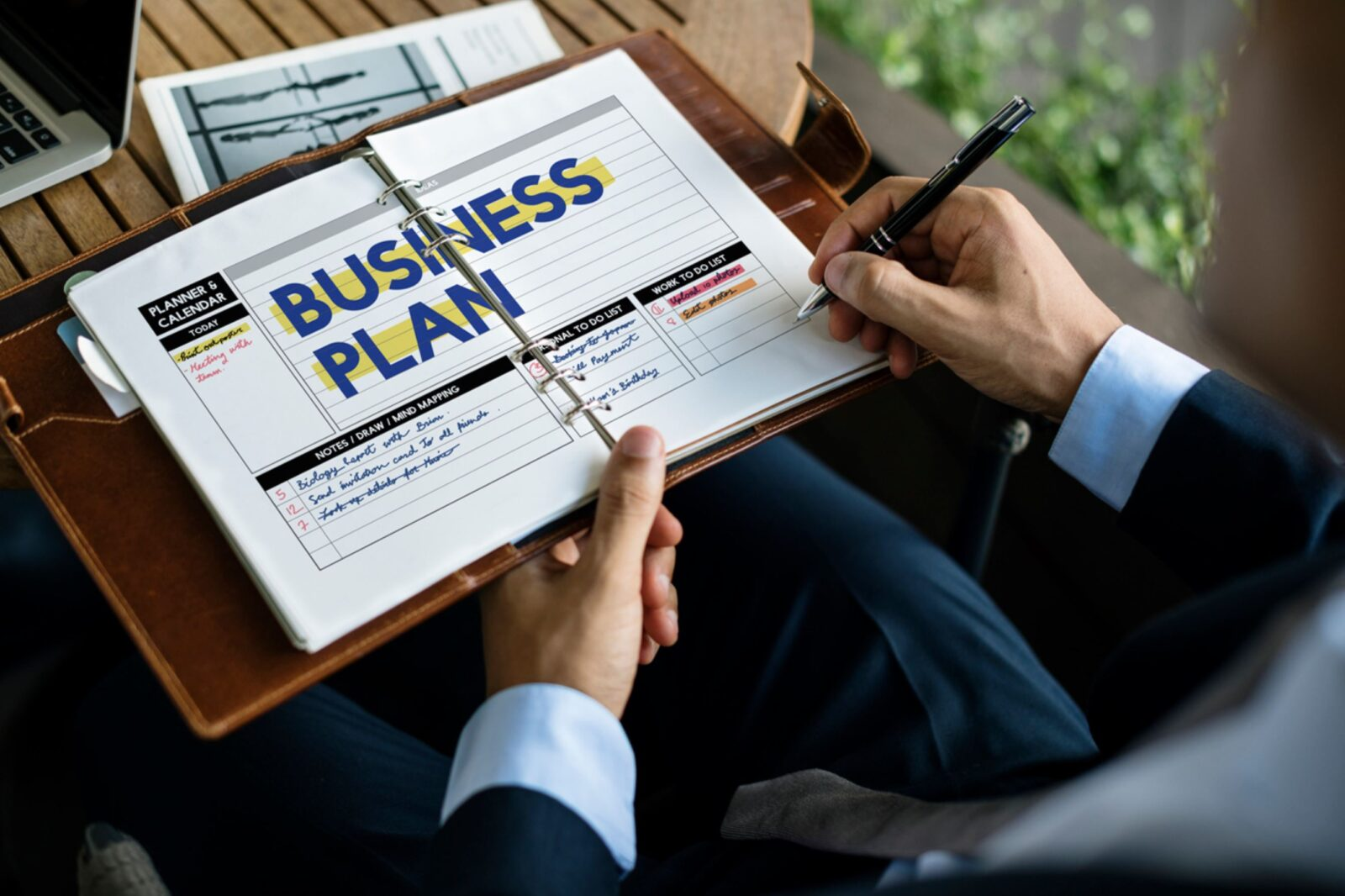 Marketing Consultant writing a business plan