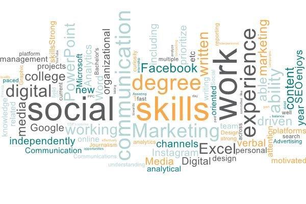 Digital Marketing Skills Word Cloud