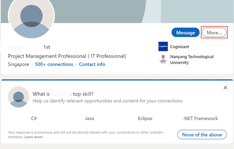 LinkedIn remove connection steps