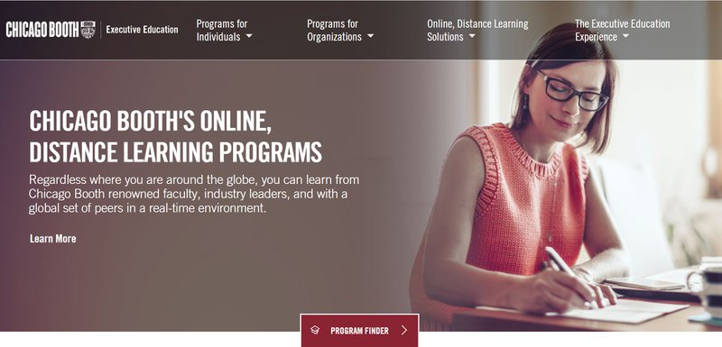 Chicago Booth Executive Education Website
