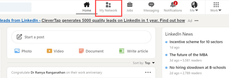 Remove LinkedIn Connection steps