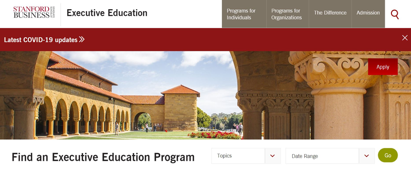 Stanford Business Executive Education Website