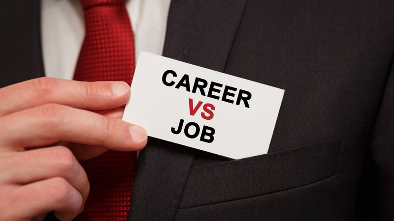 Career transition vs job change concept