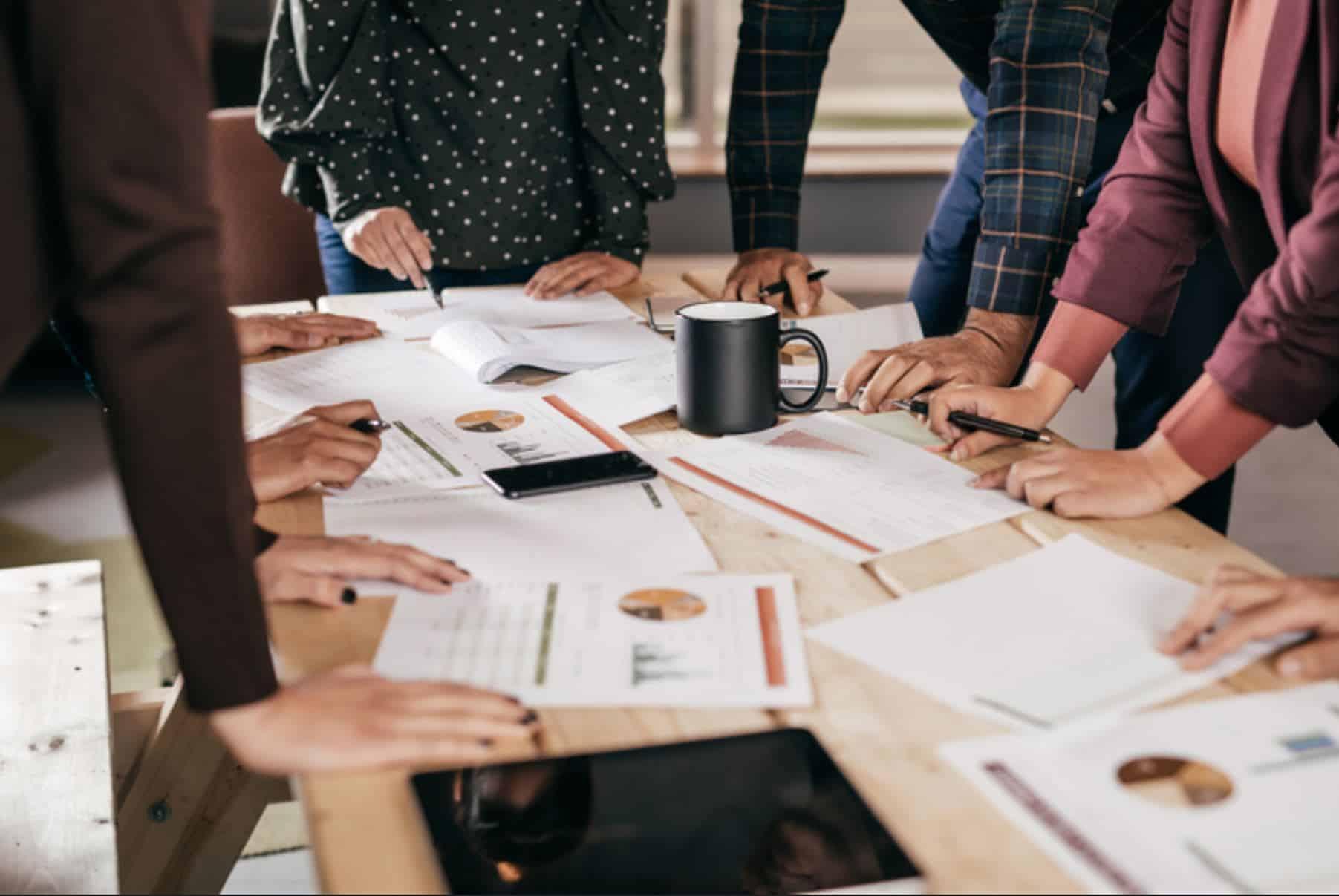 business development meeting desk