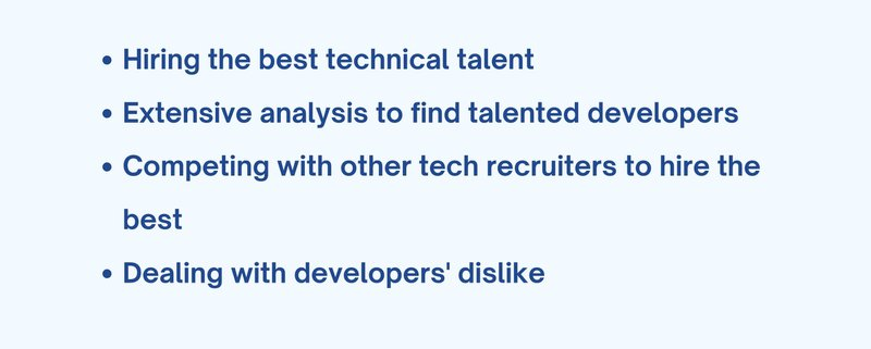 Challenges faced by technical recruiters