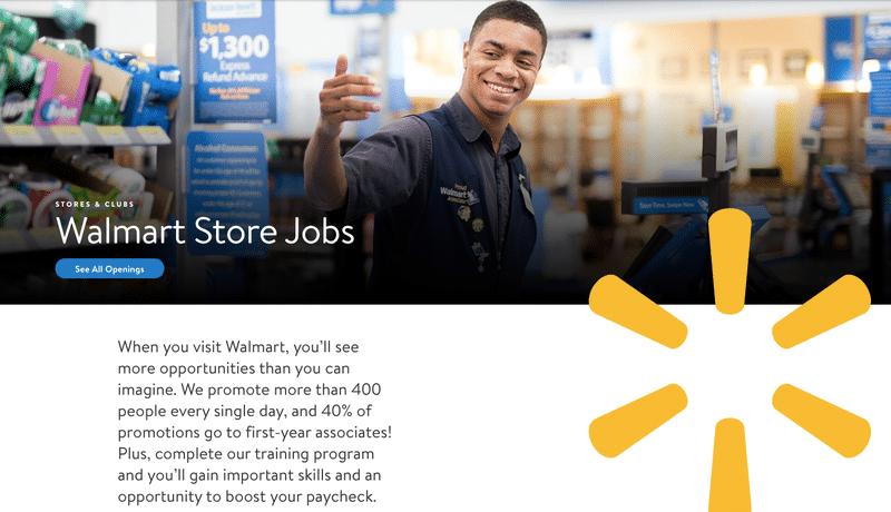 Walmart store jobs