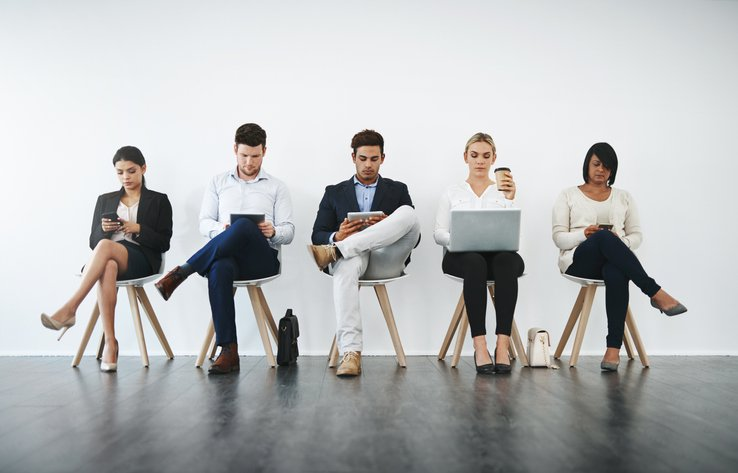 interview candidates waiting for results