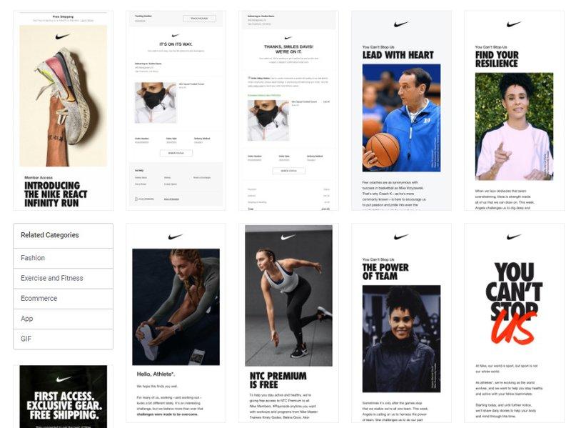 Nike newsletters