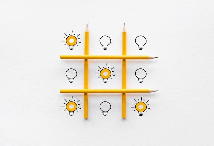 Bulb kept in 9 squares in ox game