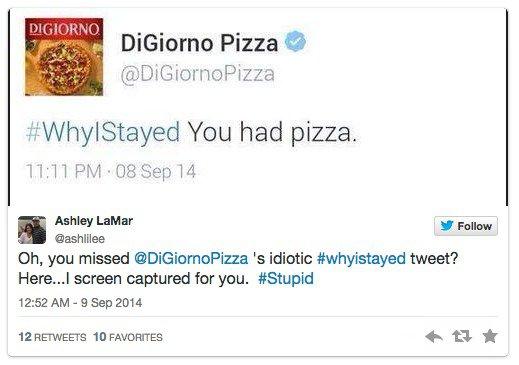 DiGiorno Pizza's tasteless tweet