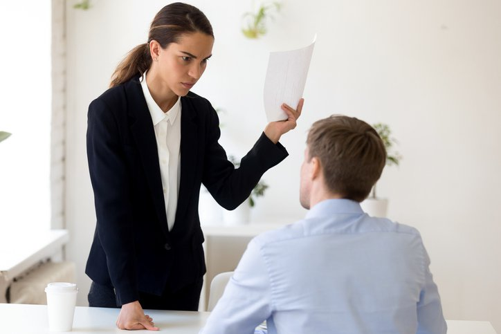 Boss angry on underqualified employee