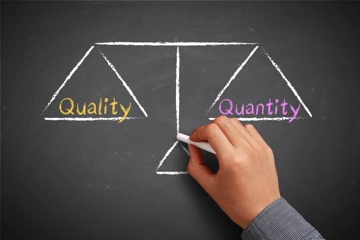 quality vs quantity diagram