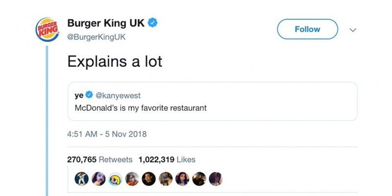 Burger King jibe at McDonald's