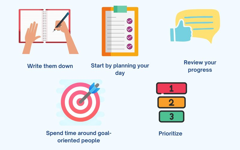 Five Practical Methods to Become Goal-Oriented