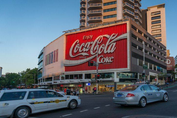 Coca Cola hoarding in Sydney